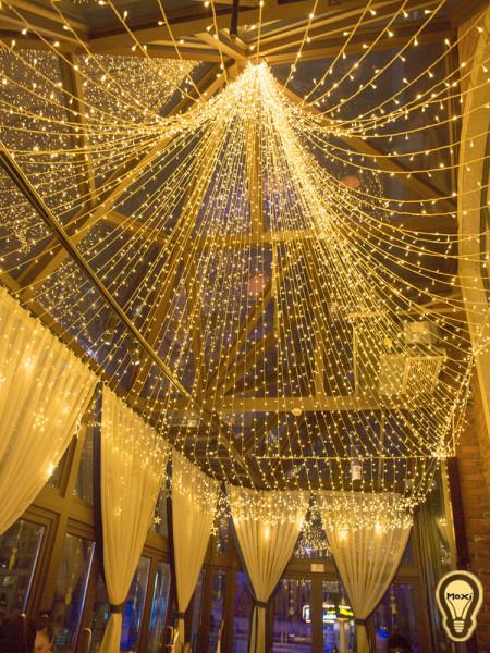 Dây Đèn LED Đèn Trang Trí Bóng Đèn Hình Đom Đóm Vàng Nắng 10M 50M Trang Trí Đường Phố Sân Vườn Phòng Ốc Cây Cảnh