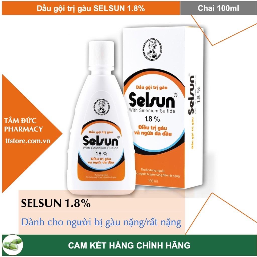 DẦU GỘI SELSUN 1.8% - Dầu gội dùng cho người gàu nặng/rất nặng Selsun 1,8% 100Ml