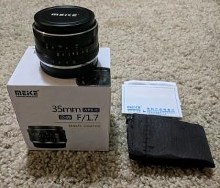 Ống kính Meike MF 35mm F1.7 cho máy ảnh Fujifilm - Sony thumbnail
