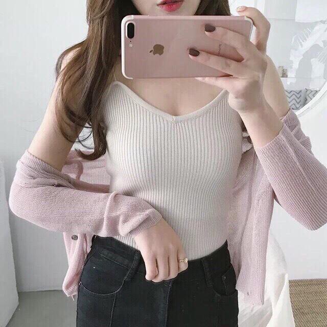Áo khoác cardigan nhẹ dễ thương