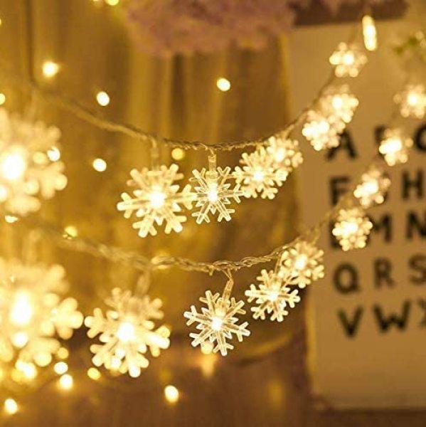 Bảng giá ĐÈN LED XÀI PIN DÀI 3M 20 BÓNG ĐÈN LED BÔNG TUYẾT TRANG TRÍ TIỆC NOEL LỄ TẾT-  LED Christmas Snowflake String Lights