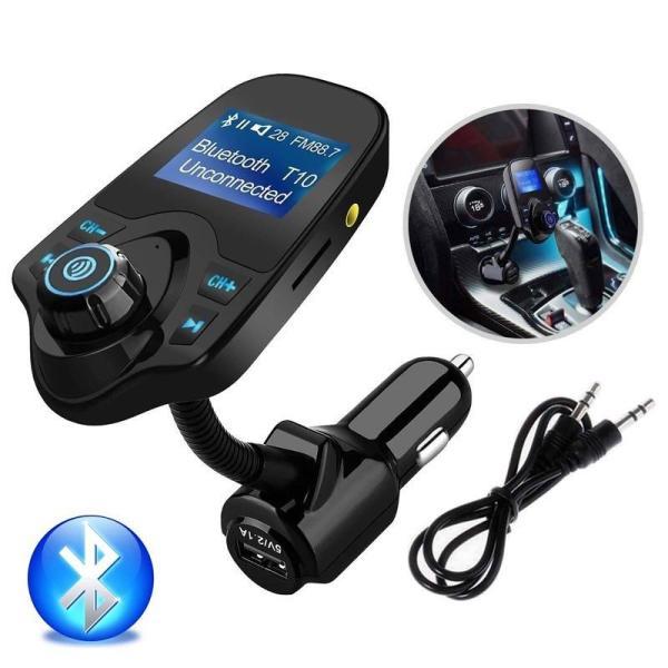 Thiết Bị Nhận Bluetooth phát sóng FM Cho Xe Hơi T10 - T10 Car Wireless MP3