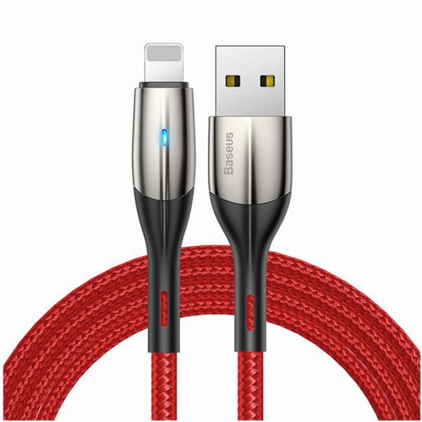 [ Mã giảm giá 60k cho đơn hàng từ 400k ] Cáp sạc Baseus Horizontal Data và truyền dữ liệu tốc độ cao cho iPhone/ iPad ( 2.4A Indicator Lamp Fast Charing)