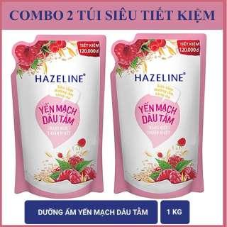 COMBO 2 túi sữa tắm Hazeline Yến mạch (Hồng) 1KgX2 thumbnail