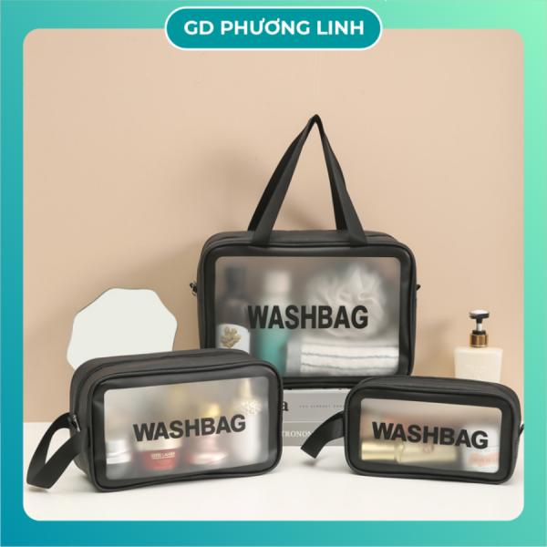 Túi Đựng Mỹ Phẩm Trong Suốt Đựng Đồ Trang Điểm Đi Du Lịch Cá Nhân Washbag Trong Suốt Chống Thấm Nước giá rẻ