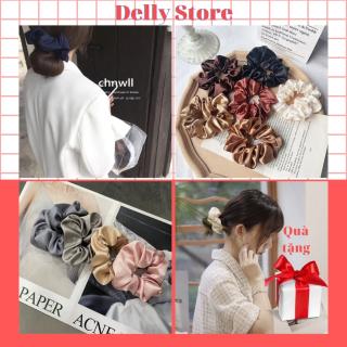 Dây buộc tóc,scrunchies phi bóng Delly store phong cách nhẹ nhàng cho nữ nhiều mẫu mới thumbnail