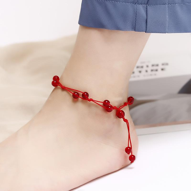 [HCM][01 chiếc tùy chọn mẫu] Lắc chân đỏ may mắn KÍCH CỠ CÓ THỂ ĐIỀU CHỈNH kiểu dáng thời trang hai lớp mẫu bán chạy họa tiết ngôi sao phong cách Hàn Quốc BSTVT - [Phụ Kiện Eva]