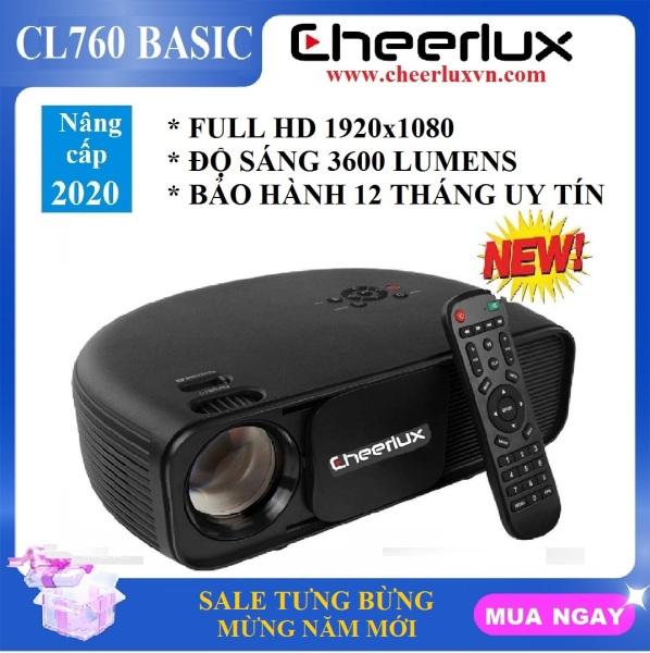 Máy chiếu phim Full HD projector Cheerlux Cl760-UPnâng cấp 9/2020 xem nét 150 Inch đèn Led 150W 3600 Lumens sáng rõ Zoom điện tử.