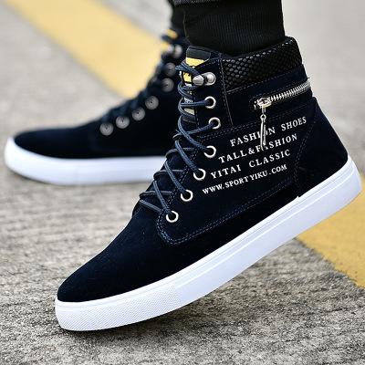 Giày Sneaker Thời Trang Nam Cao Cổ Khóa Kéo - G360002D