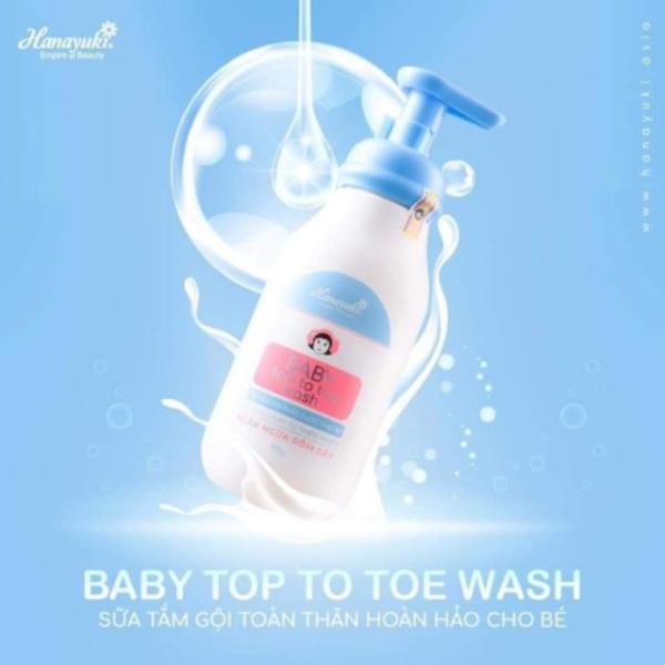 Sữa Tắm gội thảo dược Baby HANAYUKI - Top To Toe Wash Mẫu Mới (Chính Hãng)