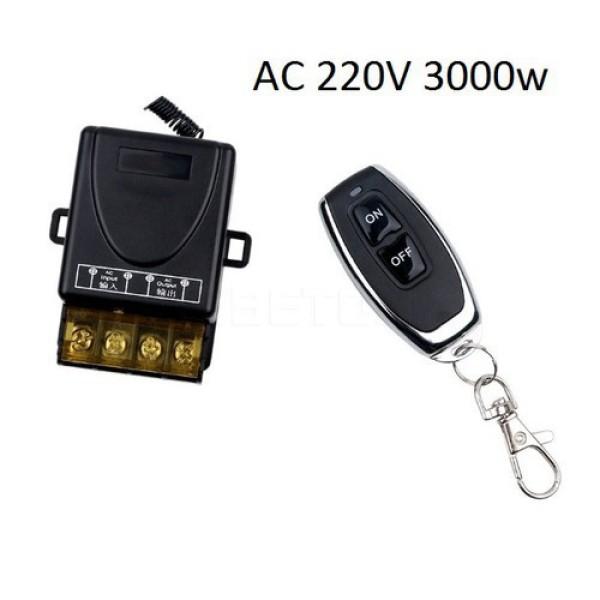 Bảng giá Bộ công tắc điều khiển từ xa cho máy bơm nước máy rửa xe 100m/3000W (30A)/ 220V