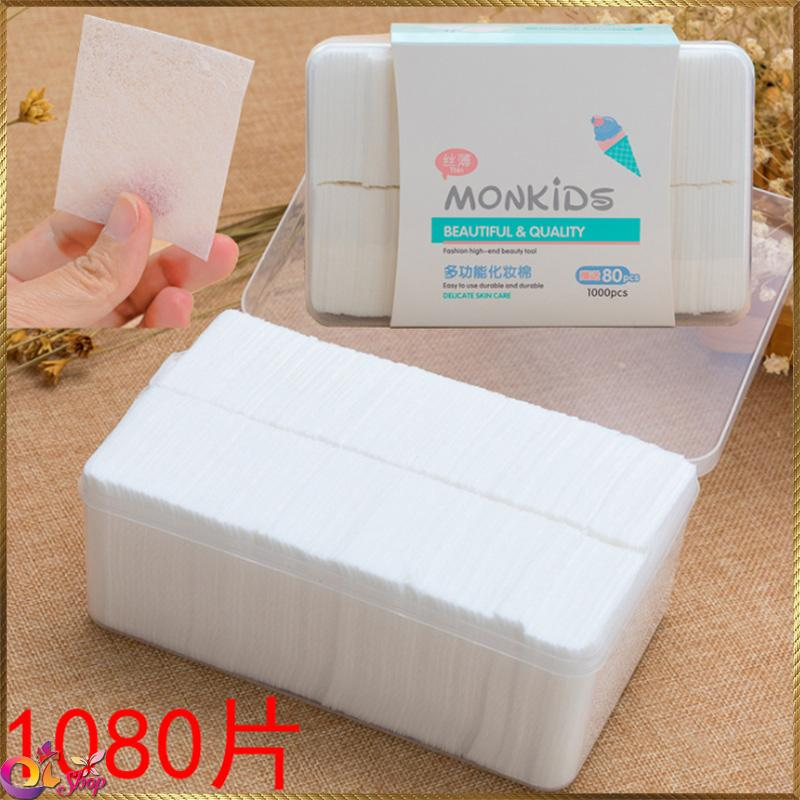 Bông trang điểm MonKids 1080 miếng BTD40 chính hãng
