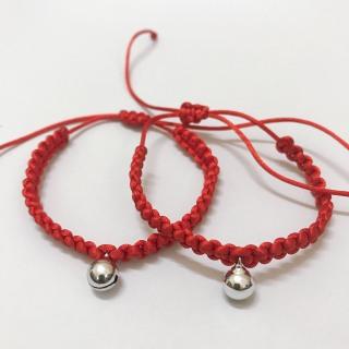 Vòng tay chỉ đỏ mang lại may mắn, tình duyên, tài lộc và vui vẻ cho mọi người- hình chuông bạc đáng iu thumbnail