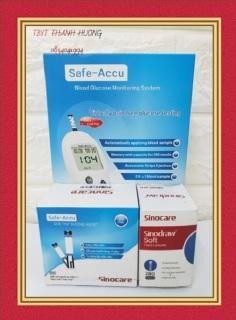 Máy đo đường huyết Safe Accu, tặng 50 kim lấy máu + 50 que thử đường huyết thumbnail