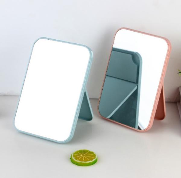 Gương trang điểm để bàn gấp gọn tiện dụng hình chữ nhật cao cấp