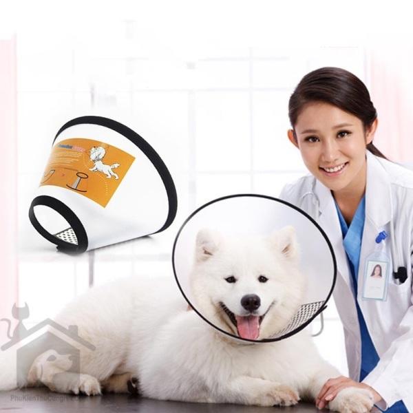 HCM- Vòng chống liếm cho chó mèo (Đủ size) Dùng để chó mèo không liếm vết thương / Loa chống cắn chó mèo / loa chống liếm / vòng đeo chống cắn / vòng cổ chống liếm / vòng cổ loa chống cắn
