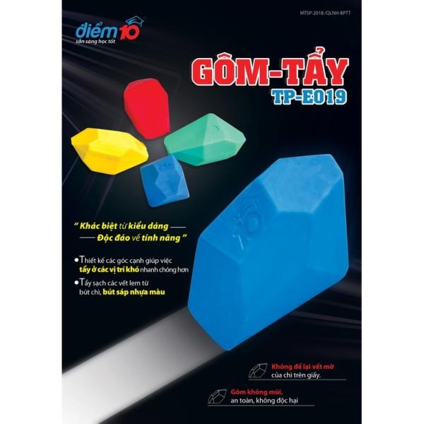 Mua Gôm/tẩy sáp màu điểm 10 TP-E019 (vỉ 1 cục) cam kết hàng đúng mô tả chất lượng đảm bảo không chứa hóa chất độc hại an toàn cho trẻ em