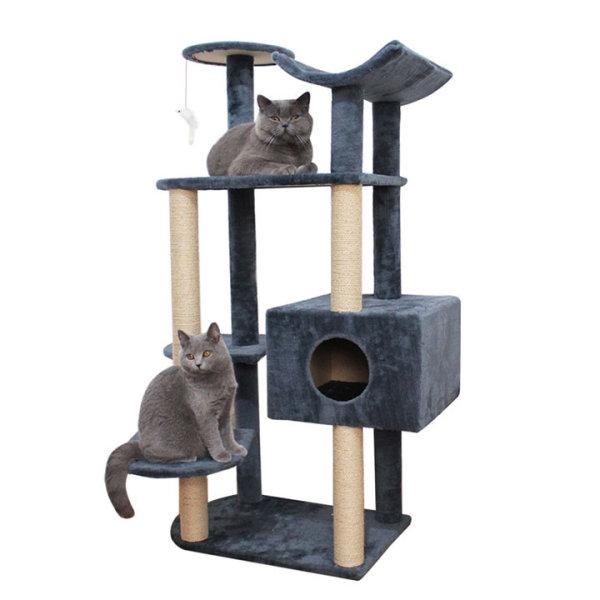 Nhà cây Cat tree cho mèo 1650 60x40x130cm - Trụ cào móng mèo - CutePets