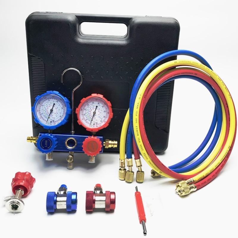 [Điện lạnh ô tô] Thiết bị nạp gas đôi R134A - Thiết bị nạp gas điều hòa ô tô và kiểm tra gas