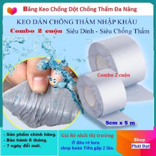 (Combo 2 Cuộn - giao hàng tại nhà) Băng Keo Siêu Dính Đa Năng, Keo dán chống thấm đa năng cho tường, trần nhà, mái tôn, ống nước, bể nước, xô chậu, phao bơi, bể bơi, đồ bơm hơi thumbnail