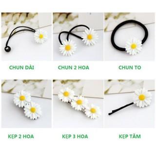 Dây chun buộc tóc - kẹp buộc tóc hoa cúc trắng cam kết sản phẩm đúng mô tả chất lượng đảm bảo an toàn đến sức khỏe người sử dụng thumbnail