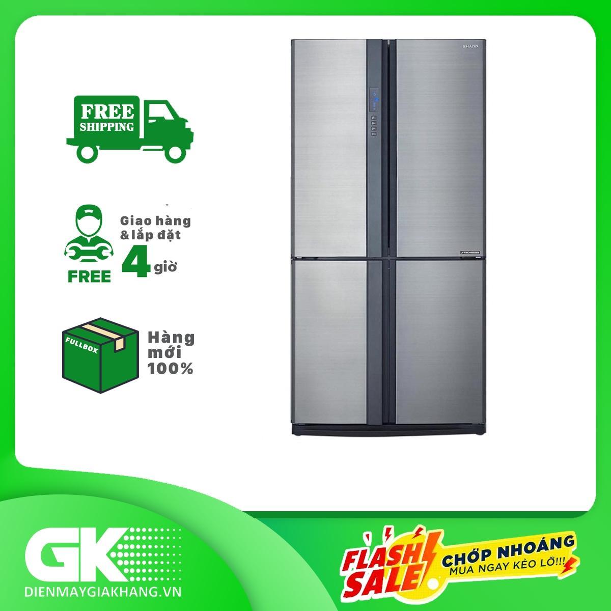 Lazada Giảm Giá Khi Mua Tủ Lạnh Sharp SJ-FX631V-SL 626L, 4 Cửa, Công Nghệ J-Tech Inverter, Khử Mùi Nano Bạc - Đồng, Khay Kính Chịu Lực - Bảo Hành 12 Tháng
