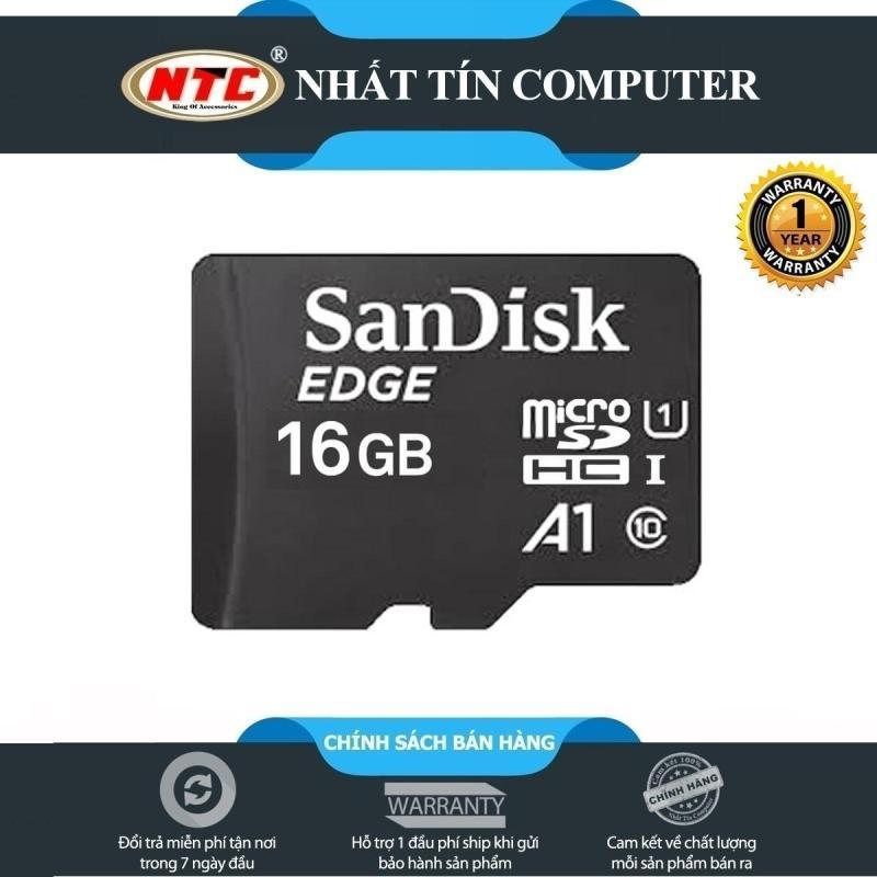 Thẻ nhớ MicroSDHC SanDisk Edge A1 16GB Class 10 U1 R140MB/s W90MB/s - không Box (Đen)