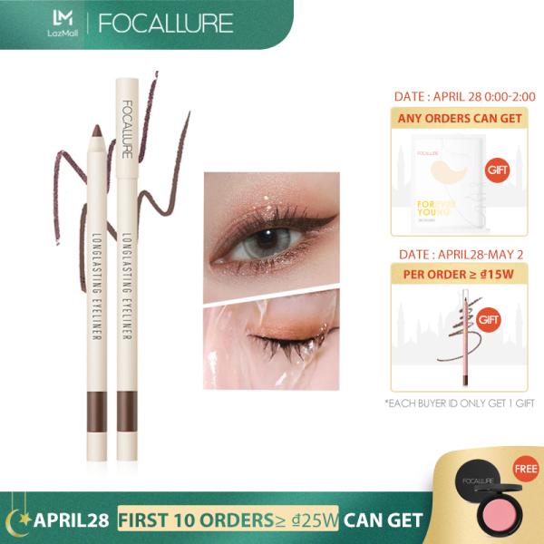 FOCALLURE Bút kẻ mắt dạng gel lâu trôi không thấm nước dễ trang điểm màu đen - INTL