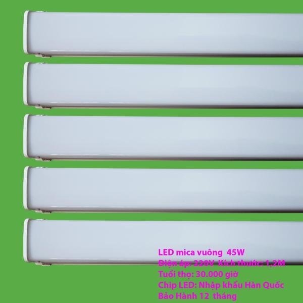 Bộ 5 đèn LED máng đôi mica 45w -1.2 mét