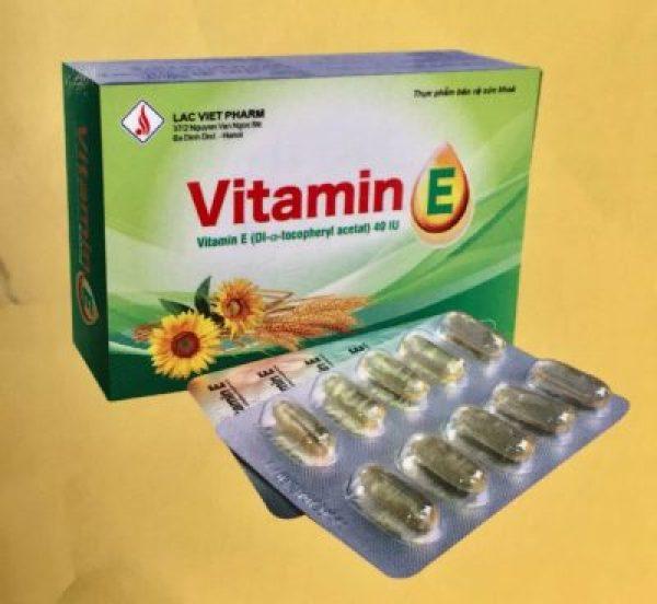 Vitamin E - Bổ sung chất chống oxy hóa, làm đẹp và sáng da - Hộp 30 viên - Thực phẩm bảo vệ sức khỏe - vietanpharma