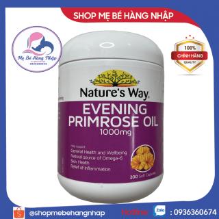 [chính hãng Úc]Tinh Dầu Hoa Anh Thảo Natures Way Evening Primrose Oil 1000mg- 200 Viên - Hỗ trợ da và nội tiết phụ nữ thumbnail