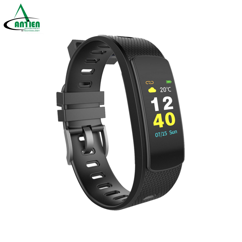 Vòng đeo tay thông minh theo dõi sức khỏe đo nhịp tim, đếm bước chân, tính lượng calo tiêu hao IWOWN I6 HRC (Màn hình mầu) - Hãng phân phối chính thức - An Tiến
