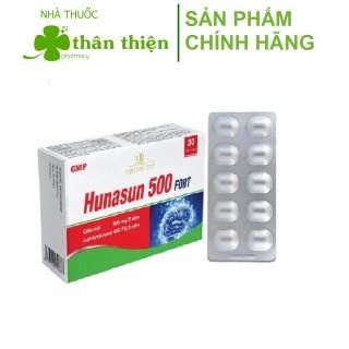 Bổ não Hunasun 500 Fort Giúp tăng tuần hoàn máu não, giảm nguy cơ tai biến, đột quỵ (30 viên) thumbnail