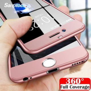 Ốp lưng kính cường lực bảo vệ 360 độ toàn diện mặt trước và sau dành cho iPhone X Xs Max XR 8 7 6 6S Plus - INTL thumbnail