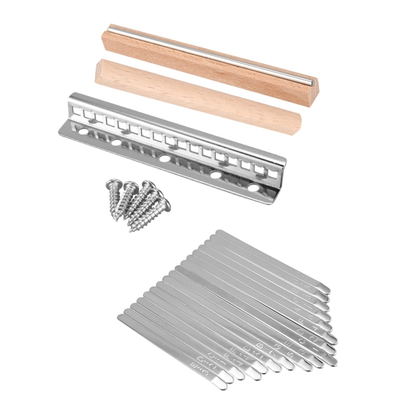 1 Set Steel Kalimba Mbira DIY 17 Keys with Thumb Piano Bridge Musical Instrument Parts for Luthiers Makers Malaysia