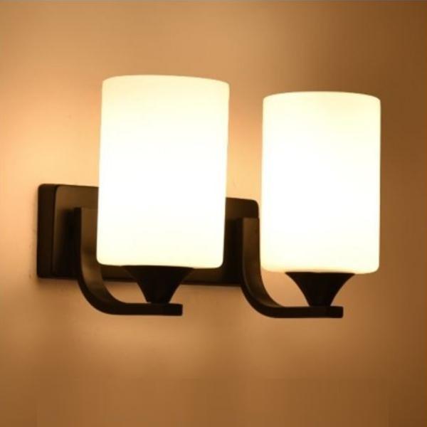 Đèn gắn tường đôi trang trí phòng ngủ, phòng khách cao cấp - Kèm bóng led