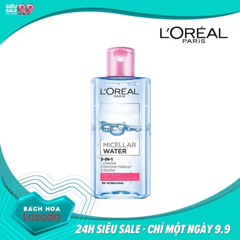 Nước Tẩy Trang LOreal Paris 3-in-1 Micellar Water (95ml) - Phù hợp với da khô và da thường tốt nhất
