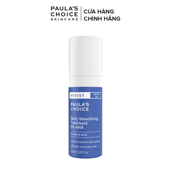 Kem tẩy da chết bề mặt làm sáng mịn và đều màu  da  Paula's Choice RESIST Daily Smoothing Treatment With 5% AHA 10 ml-7667