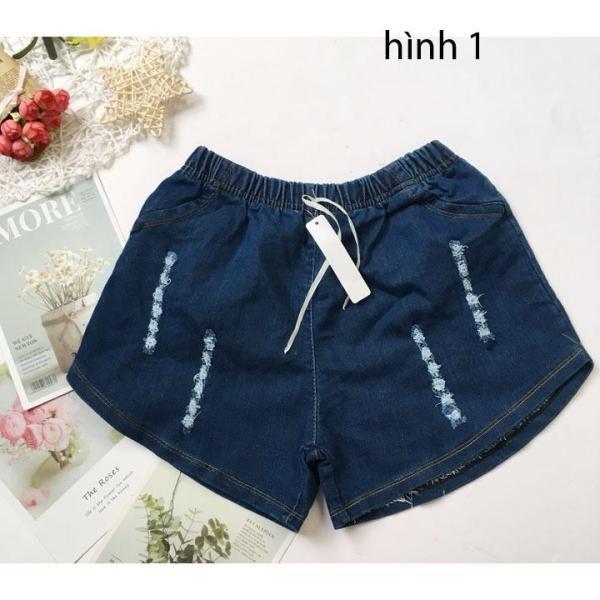 Giá bán Quần đùi bé gái freesize từ 38-45kg quần short jean bé gái - QG03