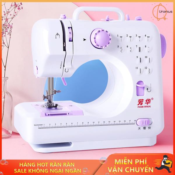 Máy khâu mini, Máy may quần áo mini, Máy may mini gia đình 12 kiểu may FHSM 505A cao cấp, đa dạng trong cách sử dụng, sản phẩm bán chạy số 1, Bảo hành uy tín