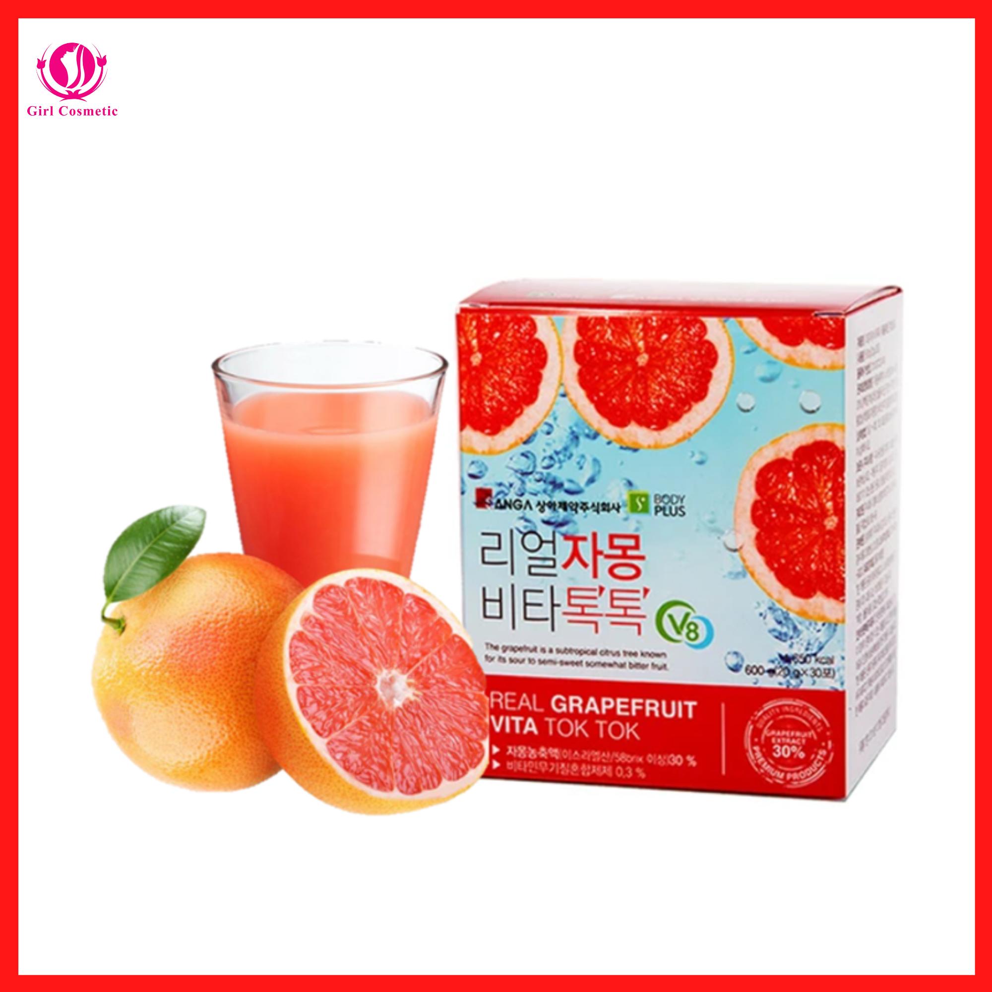 NƯỚC ÉP BƯỞI GIẢM CÂN ĐẸP DA Hàn Quốc Sanga Real Grapefruit Vita Tok Tok