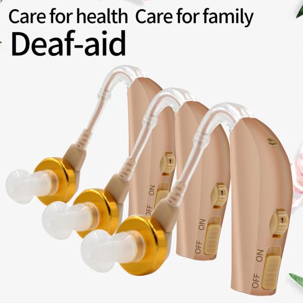 3PCS Máy trợ thính điện tử không dây vành tai nhập khẩu (Japan) A1 - Máy trợ thính cao cấp cho người già, điếc, khiếm thính(Có thể sạc lại và sử dụng mà không cần thay pin)