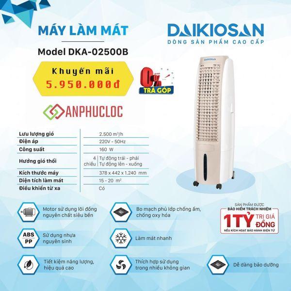 Quạt điều hoà Daikiosan DKA-02500B