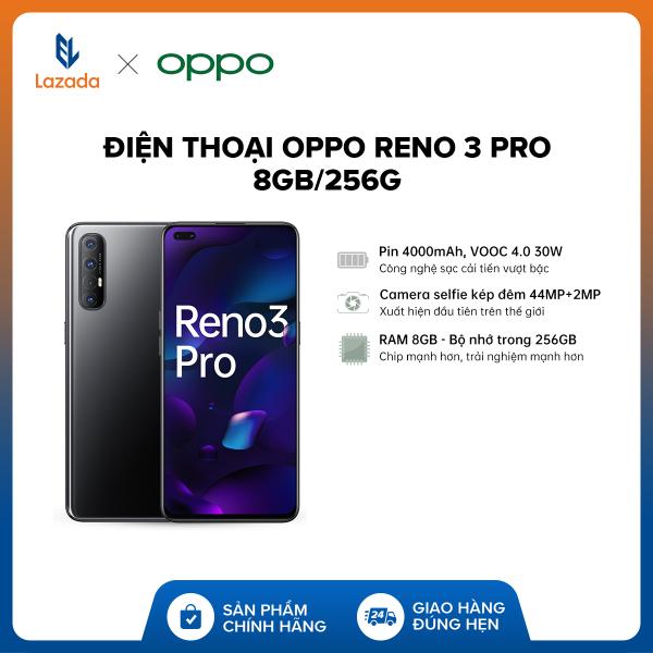 TRẢ GÓP 0% Điện thoại OPPO Reno 3 Pro (8GB/256GB) + Tai nghe Oppo Enco W31 + Ốp lưng - Hàng chính hãng bảo hành 12 tháng