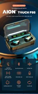 Tai Nghe Bluetooth Không Dây Amoi F95 Bản Cao Cấp Hỗ Trợ Mọi Dòng Máy - Tai Nghe Bluetooth 5.0 - Tai nghe bluetooth pin trâu - Tai nghe nhét tai không dây bluetooth, Tai nghe bluetooth mini - Tai nghe i7s, i9s, i11s, Amoi f9 5