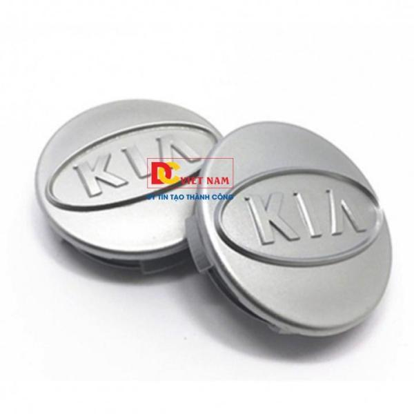 1 chiếc ốp lazang, logo chụp mâm bánh xe ô tô, xe hơi nhãn hiệu Ki.a đường kính 58mm  ( Màu bạc)