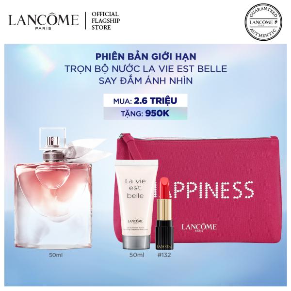 Set nước hoa Lancome La Vie Est Belle EDP 50ml & Son LAbsolu Rouge Phiên bản Giới hạn