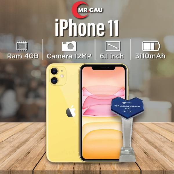 ( TRẢ GÓP 0%) Điện thoại iPhone 11 64GB Chính Hãng Apple Bản Quốc Tế Máy Nguyên Zin Nguyên Bản Đẹp 99% như mới Pin cao tặng Hộp và Phụ kiện  MRCAU