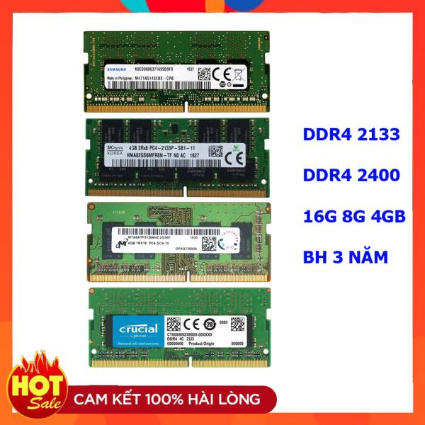Ram laptop DDR4 4GB Bus 2133 Samsung Hynix Micron Elpida Kingston...