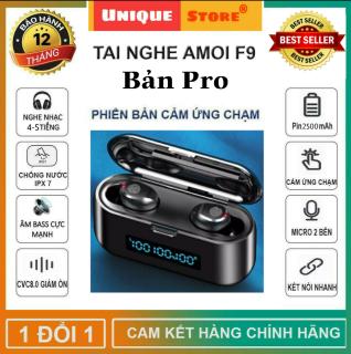 [ Hàng Xịn ] Tai Nghe Bluetooth Không Dây Amoi F9 Pro Phiên Bản Nâng Cấp Pin 2500 Mah, Tai Nghe Bluetooth Amoi F9 Bản Pro - Tai Nghe Nhét Tai Không Dây Amoi F9, Tai Nghe bluetooth pin trâu hay hơn i7s, i9s, i11s, i12 thumbnail